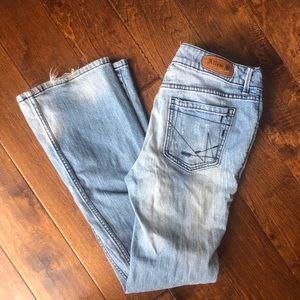 **3/$30** Allen B Schwartz jeans size 8 distressed